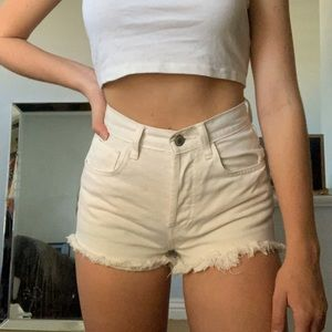 white denim shorts brandy melville